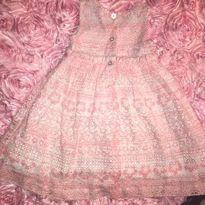 Pink and white girl dress